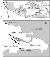 Blank Map Of Dominican Republic by Re Os Age Of The Pueblo Viejo Epithermal Deposit Dominican