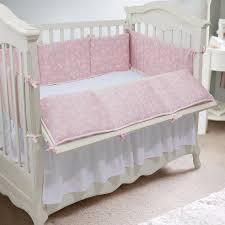 new baby crib bumper cotton pink stripe floral bumpers children