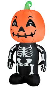 Halloween Outdoor Inflatables by Inflatable Pumpkin Head Boy Skeleton Airblown Halloween Yard