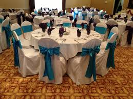 turquoise chair sashes turquoise and purple sashes on white chair covers for reception i