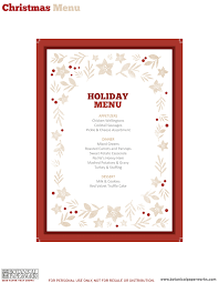 editable menu template free printable dinner decor botanical paperworks