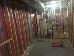 inspirations cute and stunning wood framing a basement express