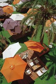 Palm Tree Patio Umbrella Quadruple Patio Umbrella Commercial Metal Swiveling
