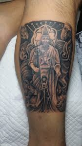 naga tattoo thailand the hierophant from the thoth deck the artist is nicky at naga