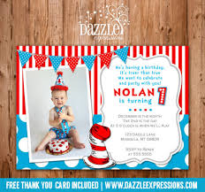 dr seuss birthday invitations printable dr seuss inspired birthday invitation cat in the hat