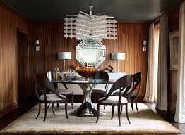 small dining room decorating with contemporary chandelier fixture