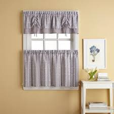 trendy design modern kitchen valance curtains buy tier from bed