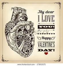 anatomically correct mechanical heart stock vector 173653175