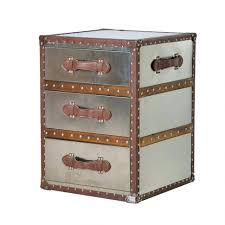 trunk style bedside tables furniture side table trunk tables tree pottery barn white redford