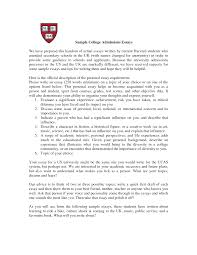 Essay Format Example For College Sample College Transfer Essays
