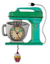 Unique Clocks Vintage Mixmaster Green Allen Design Pendulum Clocks