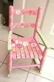 custom hand painted child u0027s rocking chair with by coffeycreations