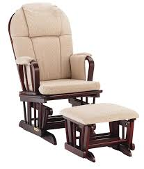 Glider Recliner With Ottoman For Nursery Shermag Glider Rocker Combo Cherry With Beige