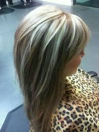 short top layers for long hair full head highlights to blend grey pinteres