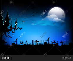 scary halloween moonlight night background can be use as flyer