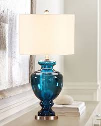 Blue Glass Table Lamp Tips To Choose Glass Table Lamp Shades U2013 Lighting And Chandeliers