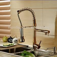 robinet laiton cuisine changement de couleur led robinet de cuisine bec golden