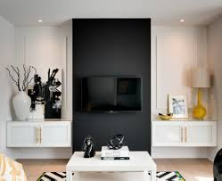 50 Beautiful Living Rooms With Ottoman Coffee Tables by Tv Stunning Contemporary Tv Accent Wall With Panels And Sleek
