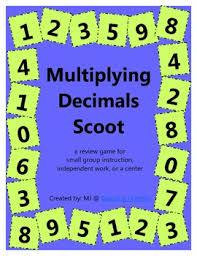 multiplying decimals scoot by maria jones teachers pay teachers
