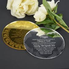 round wedding invitations custom and unique acrylic invitations common printing process in