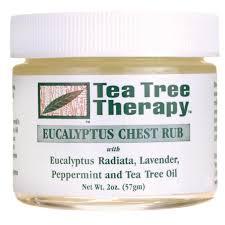 tea tree therapy eucalyptus chest rub 2 oz 57 g swanson