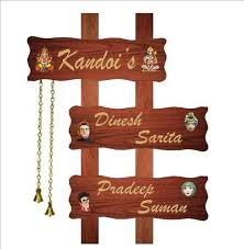 wooden name plate name plate kreative signs new delhi id