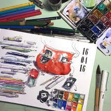 sketching my sketching kit again liz steel liz steel