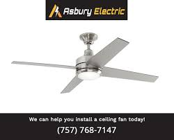 how to select a ceiling fan how to install a ceiling fan asbury electric