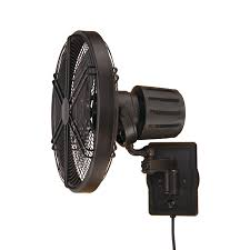 Craftmade Exterior Lighting Faraday Aged Bronze 14 Inch Outdoor Wall Fan Ellington By