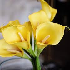 yellow calla luxury artificial yellow calla amaranthine blooms