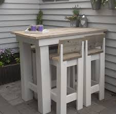 High Bistro Table Pallet Or Recycled Wood High Bistro Table 4 Bar Type Stools I