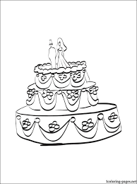 wedding cake coloring coloring pages