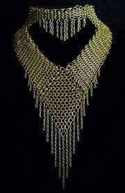 neck necklace gold images Chainmail necklace gold neckpiece with strands gcns jpg