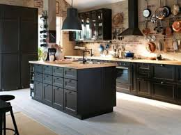 kitchen ideas with black cabinets black cabinets with wood countertops semenaxscience us