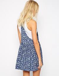 pepe jeans pepe jeans floral overall dress