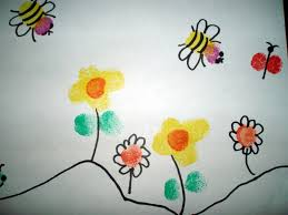 fingerprint painting projects for kids instructions for