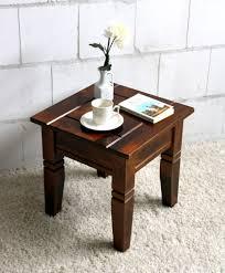 Wohnzimmertisch Holz Quadratisch Couchtisch Quadratisch Beistelltisch 45x45cm Holz Massiv Kolonial