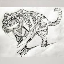 drawn panther mandala pencil and in color drawn panther mandala
