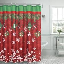 Shower Curtains With Red Cotton Shower Curtains Shower Accessories The Home Depot