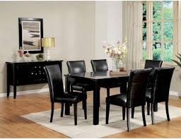 dining room amiable dining room table and faux leather chairs