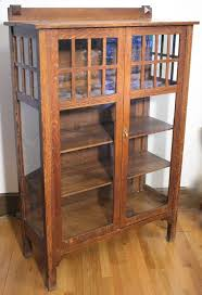 Arts And Craft Bookcase Antique Larkin Arts And Crafts Mission China Cabinet Tall Solid