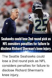 Seahawks Lose Meme - seahawks could lose 2nd round pick as nfl considers penalties for