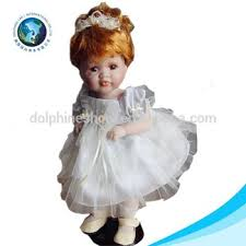 Dolphin Halloween Costume Cute Beautiful Princess White Dress Bride Doll Soft Vinyl Baby