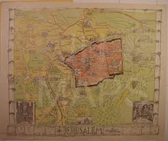Map Of Jerusalem Guide Map Of Jerusalem For H M And Allied Forces U2013 John