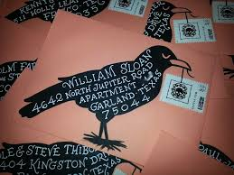 Diy Halloween Envelopes Hand Lettering Calligraphy Black Crow