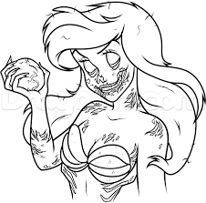 Drawing Of Halloween How To Draw Zombie Ariel Step 15 Disney Pinterest Ariel