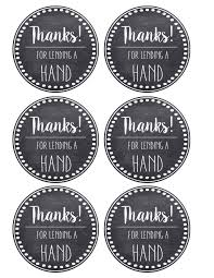 thank you tags thank you appreciation tags free printable paper trail