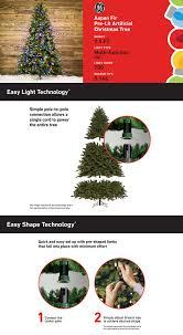shop ge 7 5 ft pre lit aspen fir artificial tree with