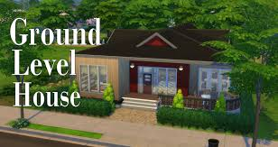 the sims 4 ground level house speed build simspinky youtube