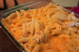 cheesy chicken ranch pasta bake
